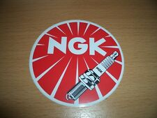 NGK Aufkleber Sticker Decal Kleber Pickerl Zündkerze Tuing Racing Roller rund XL
