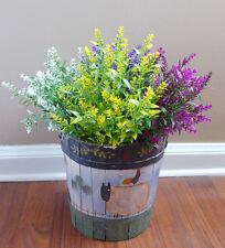 Set of 8 Plastic lavender Bushes Artificial Plants (4 Colors Each two)