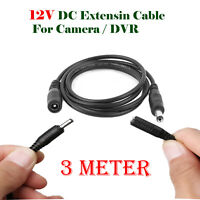 3 Meter DC Power Supply Extension Cable 12V Lead for CCTV Camera/DVR/PSU