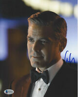 GEORGE CLOONEY SIGNED 'OCEAN'S ELEVEN' 8x10 MOVIE PHOTO ACTOR BECKETT BAS COA