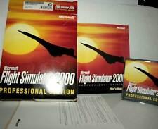 Microsoft FLIGHT SIMULATOR 2000 USATO OTTIMO PC CDROM VERSIONE ITA FR1 40506