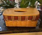 Longaberger long tissue Basket with Orchard Park Liner Basket With Lid. LR503