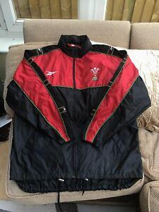 Wales Reebok Rugby Union Rain Jacket Season 1999-2000 Size XXL Great Cond