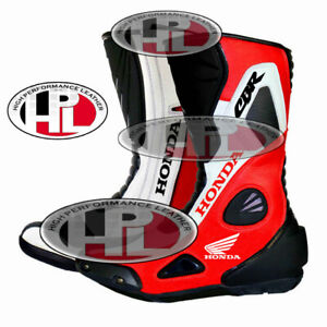 NEW MOTORBIKEHONDA CBR MOTORCYCLE HONDA CBR MOTOGP RACING LEATHER SHOES/BOOTS