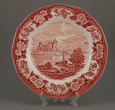 """Großer Teller 29cm  """"Lochs Of Scotland-Loch Awe"""" von Enoch Wedgwood rot platte"""