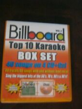New ListingBillboard Top 10 Karaoke Box Set Vol 2 40 Songs 4 Cd's