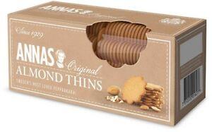NEW Annas Original Almond Thins 150g x 12 BBD 30/5/22