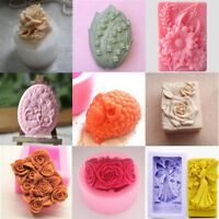 DIY Silicone Flower Candle Cake Soap Mold Craft Molds Handmade Mould Baking