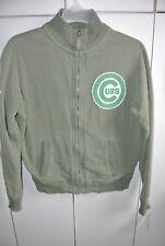 Chicago Cubs Mens Medium Fabulous Stone Washed Green Track Jacket/NWT