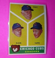 1960 Topps #457 Chicago Cubs Coaches Klein Root Tappe NmMt High Grade Sharp!
