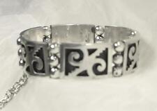 "Vintage Pedro Romero Taxco Mexico Sterling Silver Swirl Niello Link 7"" Bracelet!"