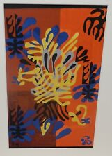 """HENRI MATISSE """"THE CUT-OUTS"""" YELLOW BLUE & BLACK SMALL COLOR MOMA SILKSCREEN"""