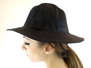 New Wax Cotton Australian Bush Hat Ladies Mens Head Wear Navy Blue Hat S M L XL