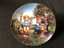 "Danbury Mint M.J.Hummel Collector Plates Little Champions""Apple Tree Boy & Girl�"