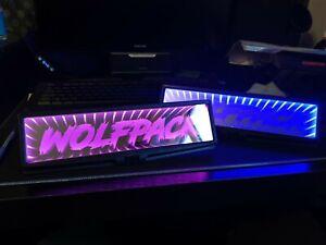 LED Infinity Car Rear Mirror Light JDM Reflective Custom Black Hole Show Car