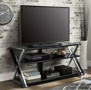 """Flat Panel TV Stand For TVs Up To 70"""" Entertainment Media 3-in-1 Console Modern"""
