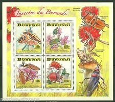 BURUNDI 2014 INSECTS OF BURUNDI COLLECTIVE SHEET MINT NH