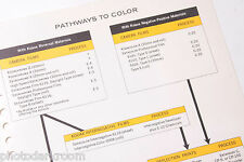 Kodak 1969 Pathways to Color E-11 Film Flow Info Guide - English - USED B20