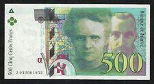 500 Francs Curie 1995 SPL à NEUF