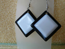 negro y blanco Pendientes Colgantes - Fashion Jewelry