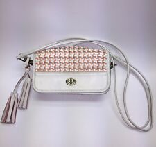 Coach Legacy Bag Chalk Coral Caning Woven Leather Penny Shoulder Crossbody