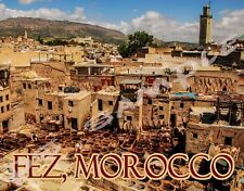Morocco - FEZ - Travel Souvenir Flexible Fridge Magnet