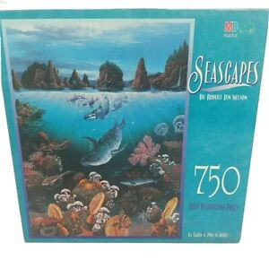 MB Seascapes Jigsaw Puzzle by Milton Bradley - 750 Pieces - Sealed - Vintage