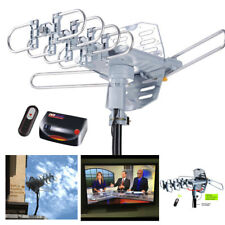 Outdoor Amplified HDTV Antenna 150+ Miles HD TV Digital 1080p UHF VHF AM FM Gain