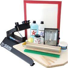 Siebdruckmaschine Textildruck + KIT SIEBDRUCK Set Sieb Rakel Farbe Spachtel +++