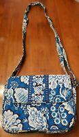 NWOT ~ VERA BRADLEY ~ Blue Paisley Shoulder Bag ~ Tote Purse ~ Quilted Handbag