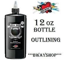 MOMS Black Pearl Perfect Outlining Liner Tattoo Ink Single Bottle 12 oz Size USA