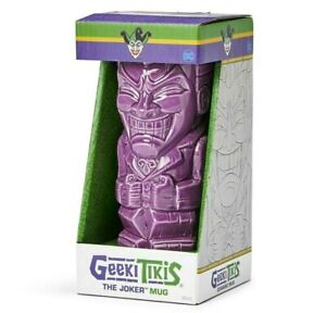 DC Comics Batman Geeki Tikis - 16 Ounce Ceramic Purple Joker Mug Tiki Style Cup
