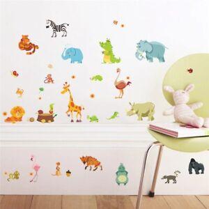 Dinosaur Zebra Giraffe Wall Stickers For Kids Rooms Home Decor Cartoon Decals