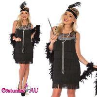 Deluxe Ladies 1920s Roaring 20s Flapper Costume Sequin Ganster Fancy Dress Up