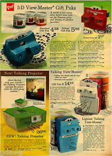 1974 PAPER AD 2 Pg Viewmaster 3-D Talking Projector Lighted Charlie Brown Reels