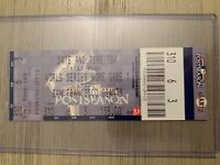 2010 WORLD SERIES Ticket Stub from SF Giants vs Texas Rangers AT&T Park Game 1