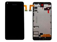 Original Microsoft Lumia 550 LCD Display Touchscreen Glas mit Rahmen Schwarz