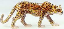 Raub Katze Leopard Geschenk Deko Figur Sammlerstück Schmuck Schatulle Pillendose