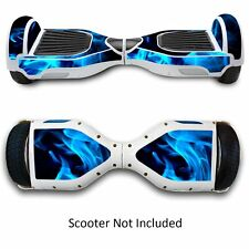 Self Balancing Hover Board Scooter Hoverboard SKIN CASE DECAL GameXcel Blue Fire