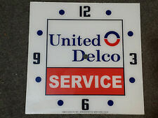 "*NEW* 15"" UNITED DELCO CHEVY GM GMC GLASS replacement clock FACE FOR PAM"