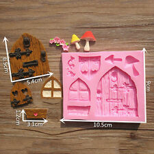 3D Fairy House Door Silicone Fondant Mould Cake Decorating Chocolate DIY Tool