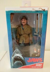 """Jaws Quint (Robert Shaw) 8"""" Clothed Action Figure NECA IN STOCK NEW"""