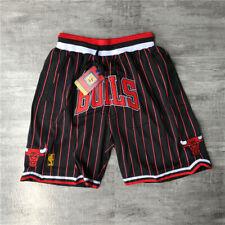 Chicago bulls Shorts Black Strip All Stitched
