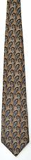 Men's New Neck Tie, Silk, Brown Blue paisely pattern by Halston