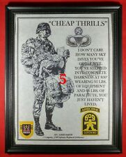 """Mc-Nice: Army Airborne """"Cheap Thrills"""" 509th Pir Framed Personalized"""