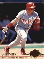 1994 Ultra Philadelphia Phillies Baseball Card #249 John Kruk