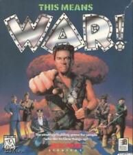 This Means WAR! w/ Manual PC CD real-time strategy future world computer game