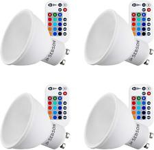 SEBSON® 4X LED GU10 Colour Changing Bulb, Remote Control, 15 RGB + Warm White