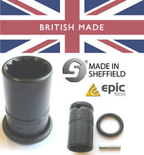 EPIC TOOLS 21mm BI-HEX Scaffolders Impact Gun Socket 52mm Length with Pin & Ring
