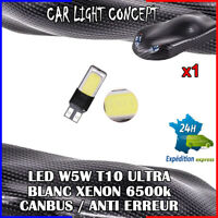 1 x ampoule Veilleuse LED W5W T10 ULTRA BLANC XENON 6500k voiture auto moto